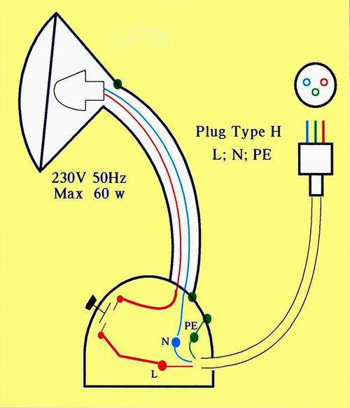 electric field in our house israel rh sgutman com 2 Circuit Lamp Switch Diagram Floor Lamp Parts Diagram